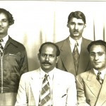 Dharm Singh Gill with friends in approximately 1951